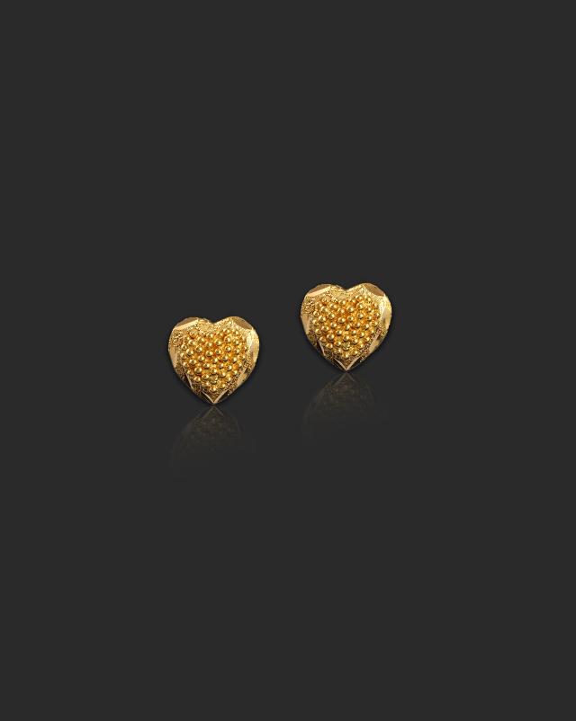 Ditya 22Kt Gold Stud Earrings