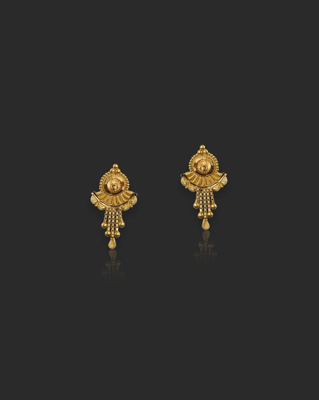 Jina 22Kt Gold Drop Earrings