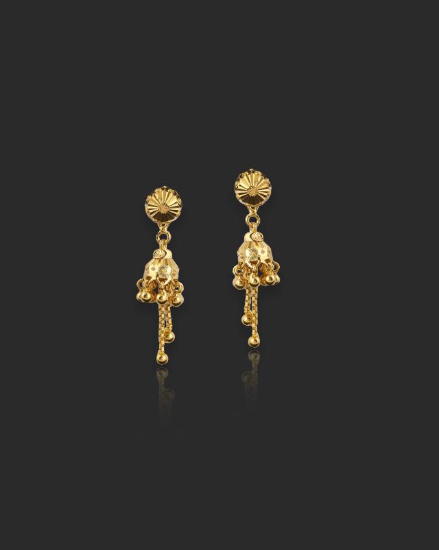 Lavina 22Kt Gold Drop Earrings