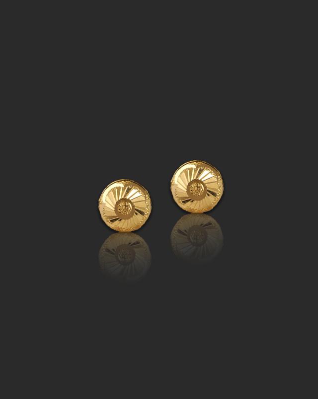 Gold Earrings 22 Karat Yellow Gold Priya 22Kt Gold Stud Earrings