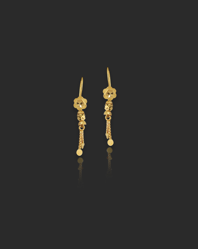 Sia 22Kt Gold Drop Earrings