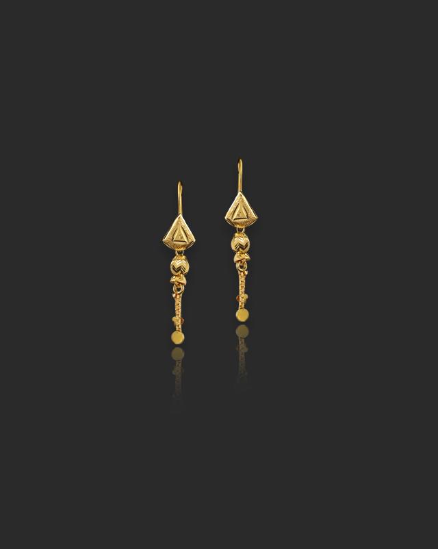 Brinda 22Kt Gold Drop Earrings