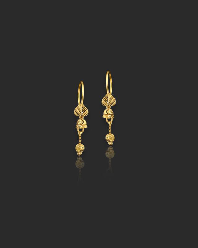 Binita 22Kt Gold Drop Earrings