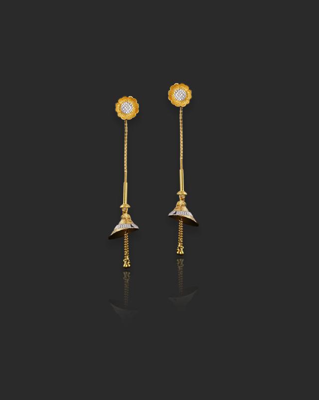 Dhriti 22Kt Gold Drop Earrings