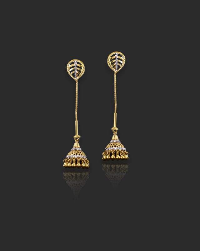 Eshana 22Kt Gold Drop Earrings