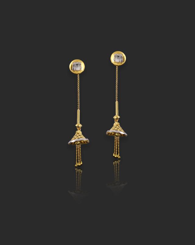 Falak 22Kt Gold Drop Earrings