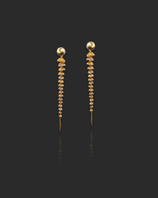 Idika 22Kt Gold Drop Earrings