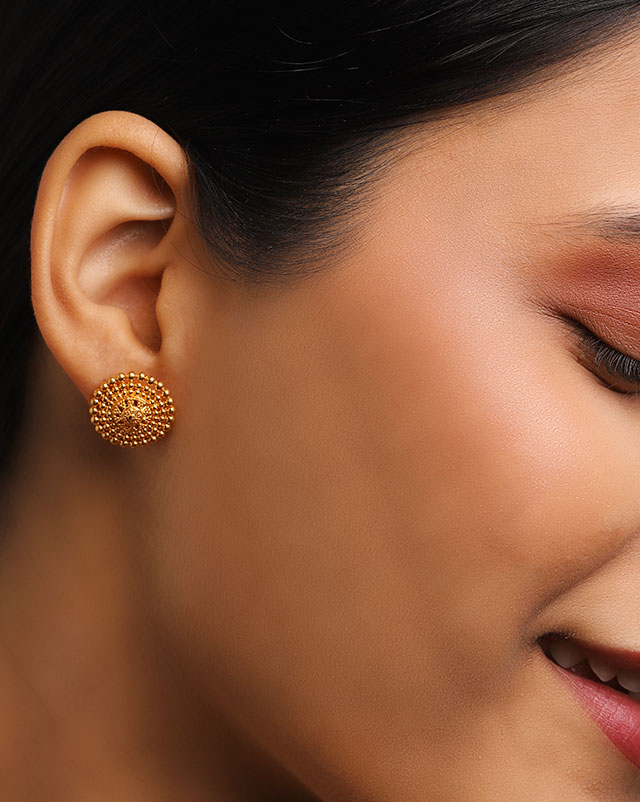 Lekha 22Kt Gold Stud Earrings