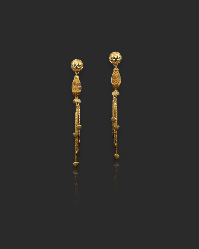 Turvi 22Kt Gold Drop Earrings