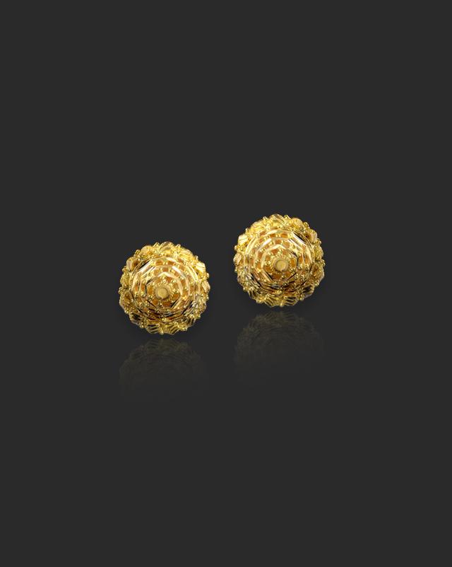 Sidra 22Kt Gold Stud Earrings