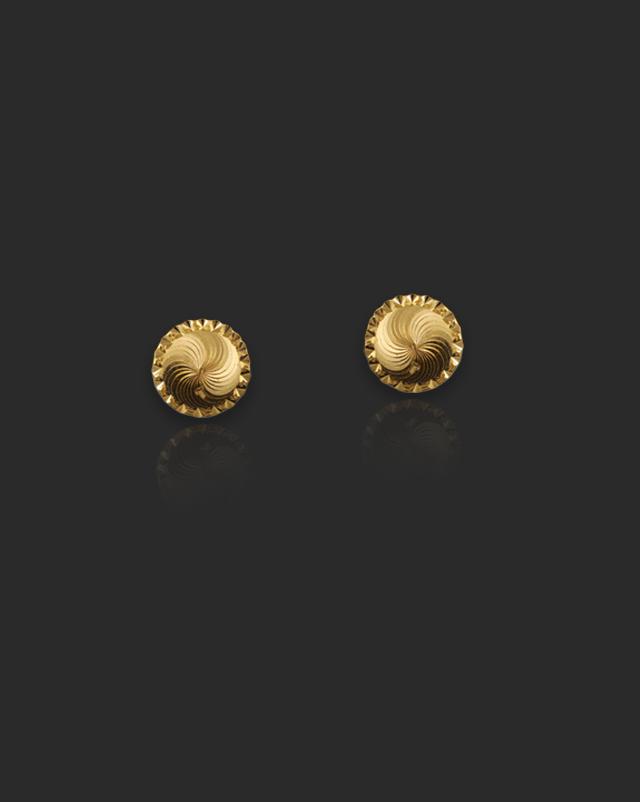 Manya 22Kt Gold Stud Earrings