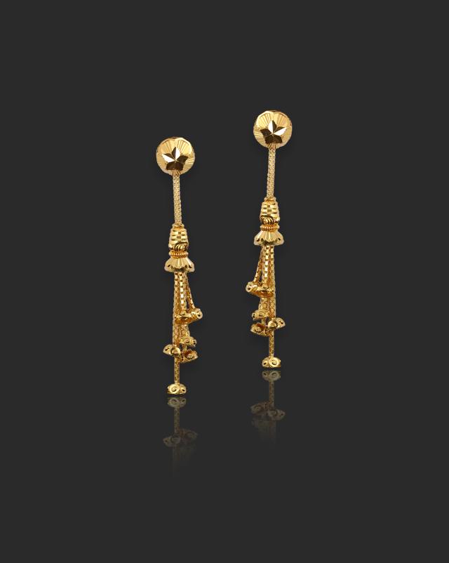 Parul 22Kt Gold Drop Earrings
