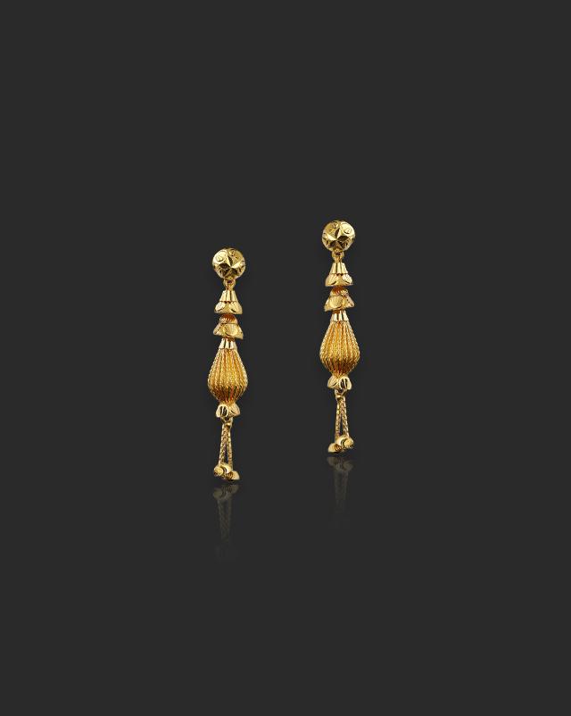 Vansha 22Kt Gold Drop Earrings