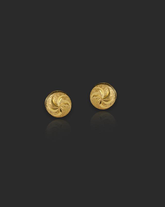 Jaanvi 22Kt Gold Stud Earrings