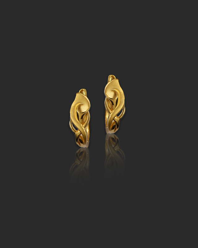 Gold Earrings 22 Karat Yellow Gold Naina 22Kt Gold Hoop Earrings