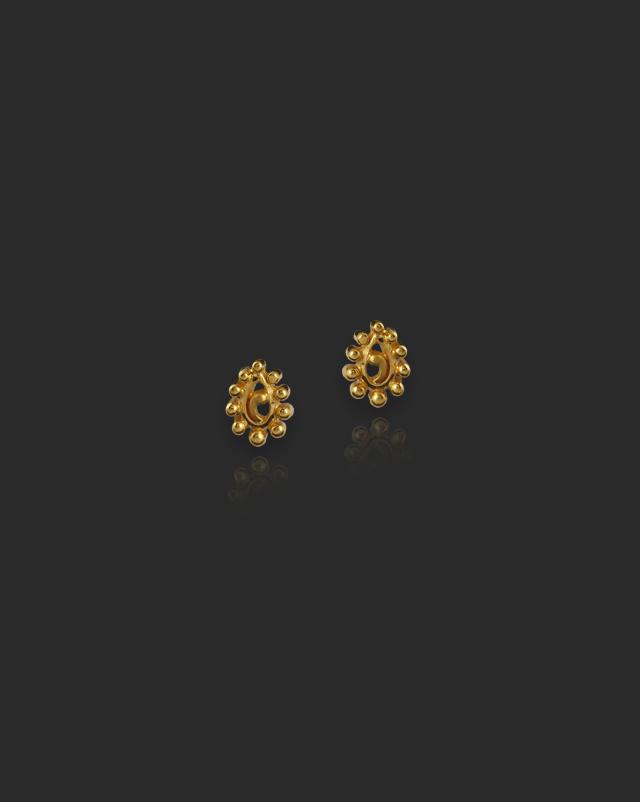 Anira 22Kt Gold Stud Earrings