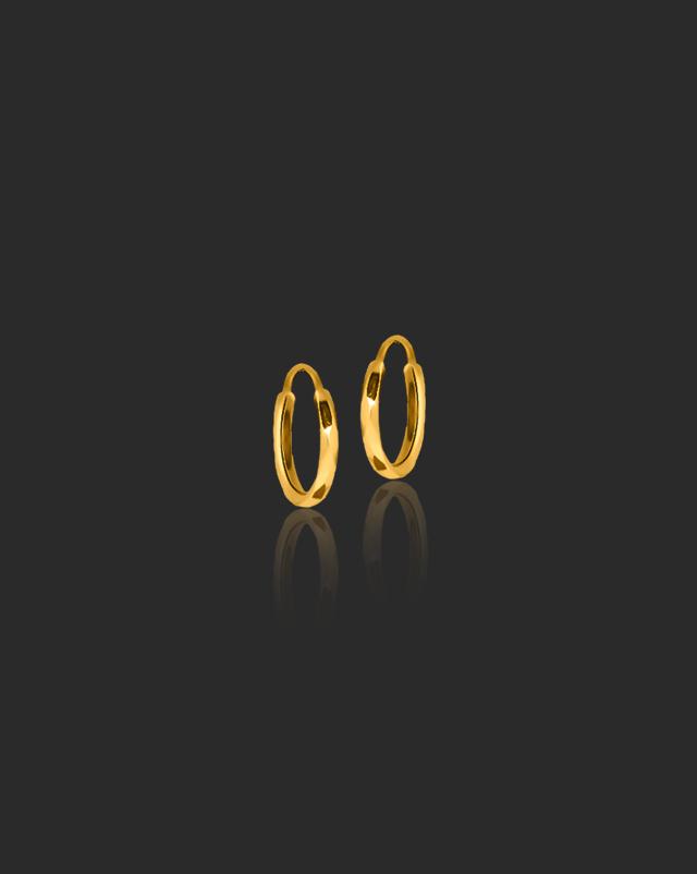 Gold Earrings 22 Karat Yellow Gold Tinkerbell Kids' Gold Earrings