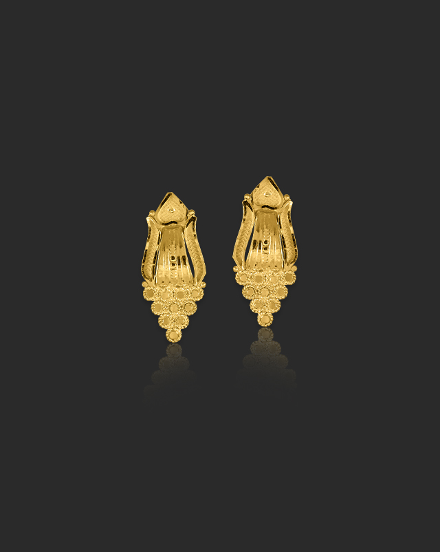 Gold Earrings 22 Karat Yellow Gold Kimaya Gold Stud Earrings