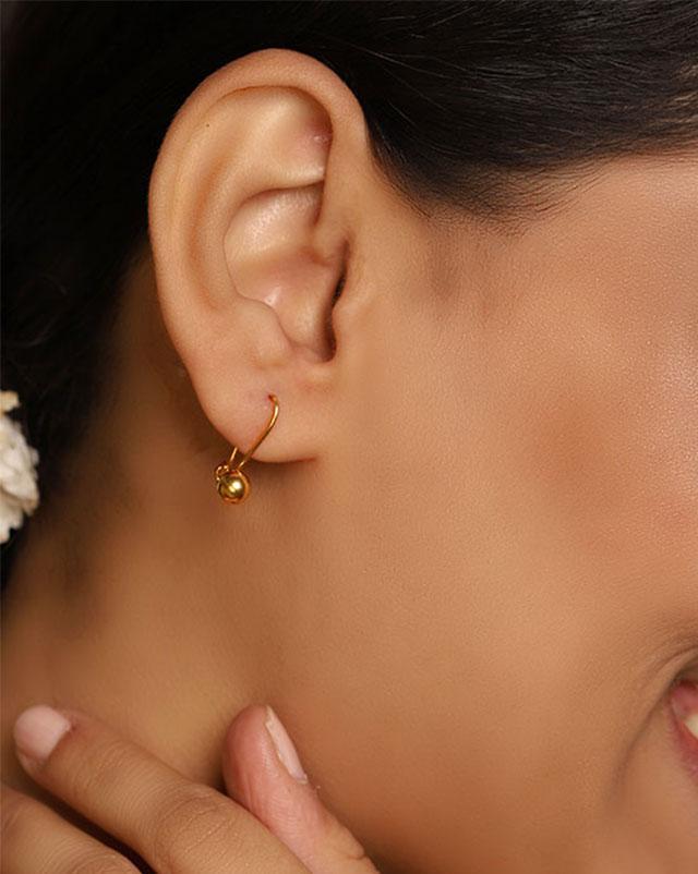 Gold Earrings 22 Karat Yellow Gold Daani Gold Drop Earrings