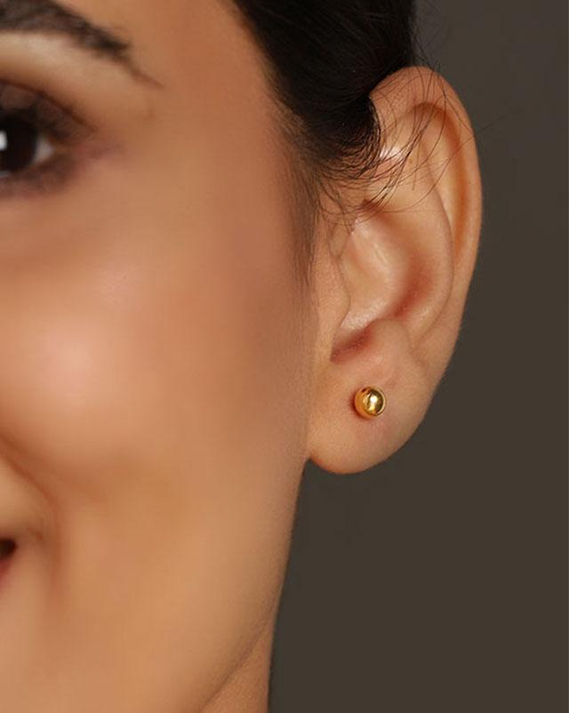 Gold Earrings 22 Karat Yellow Gold Nida Gold Drop Earrings