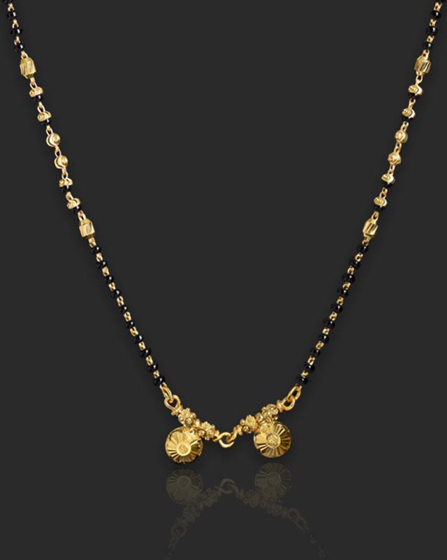 Gold Mangalsutra 22 Karat Yellow Gold Urchita 22Kt Gold Mangalsutra