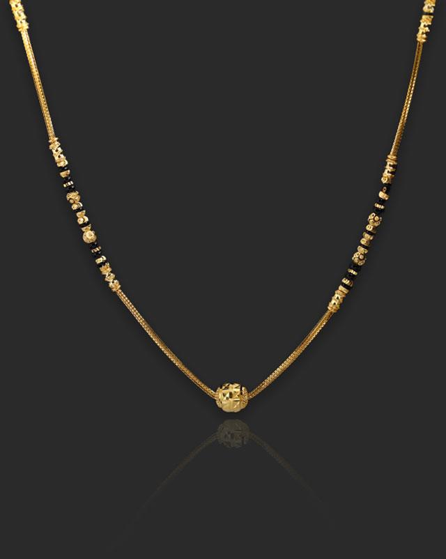 Gold Mangalsutra 22 Karat Yellow Gold Pallavi 22Kt Gold Mangalsutra