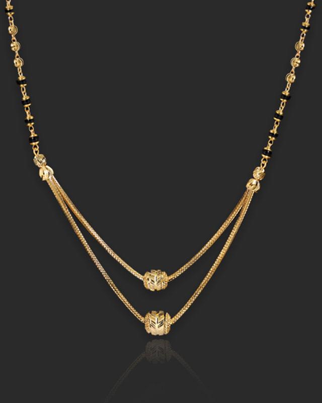 Gold Mangalsutra 22 Karat Yellow Gold Aakruti 22Kt Gold Mangalsutra
