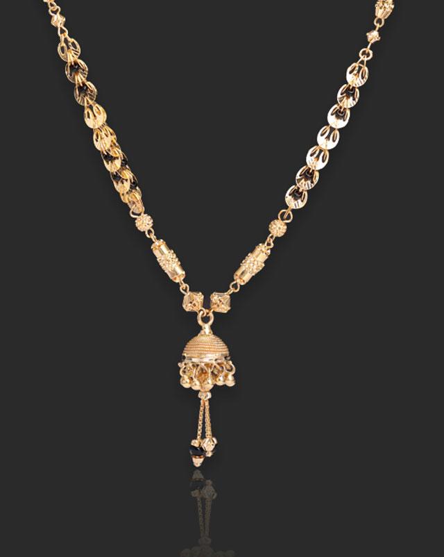 Gold Mangalsutra 22 Karat Yellow Gold Alisa 22Kt Gold Mangalsutra