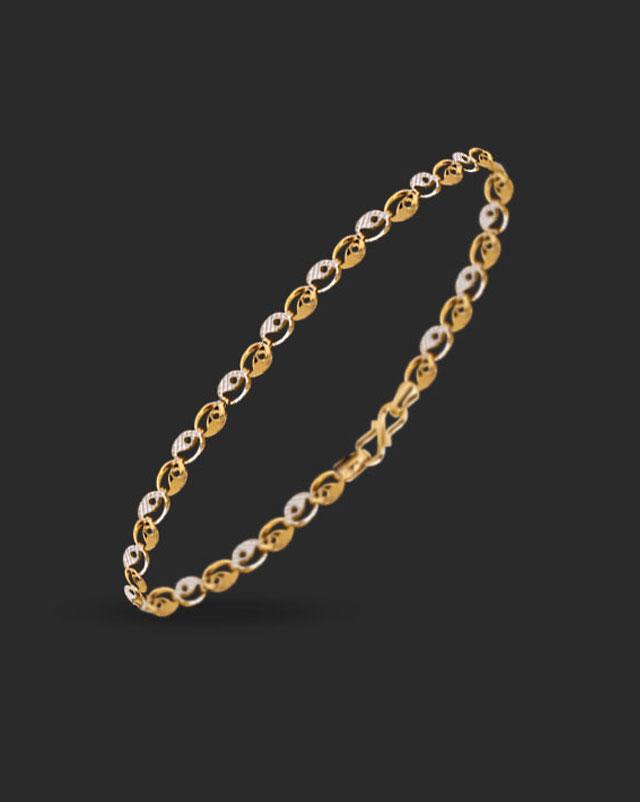 Gold Bracelets 22 Karat Yellow Gold Safia 22Kt Gold Bracelet