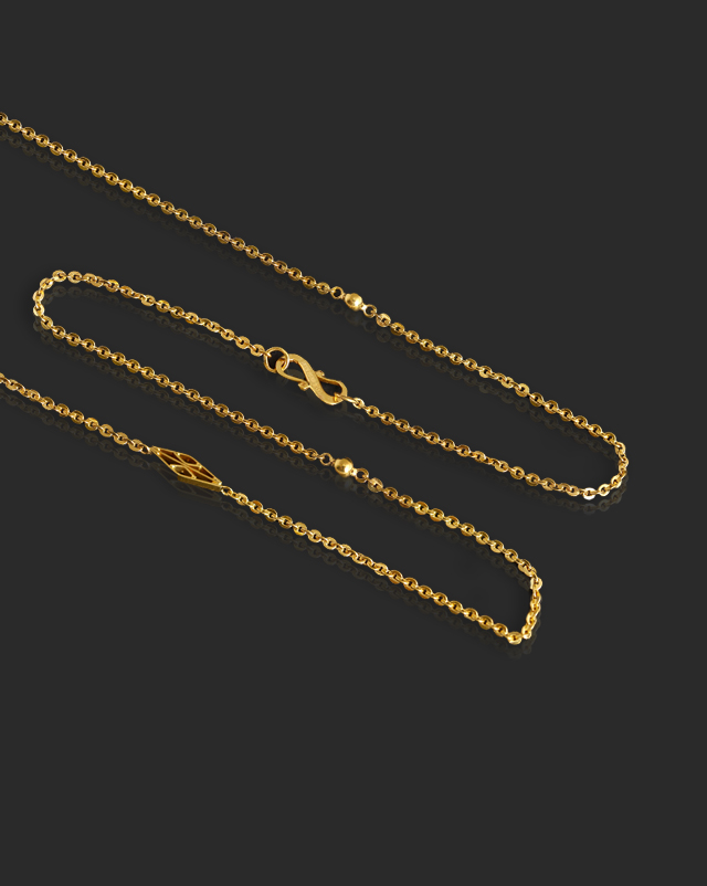 Gold Chains 22 Karat Yellow Gold Dazzling Cable 22Kt Gold Chain