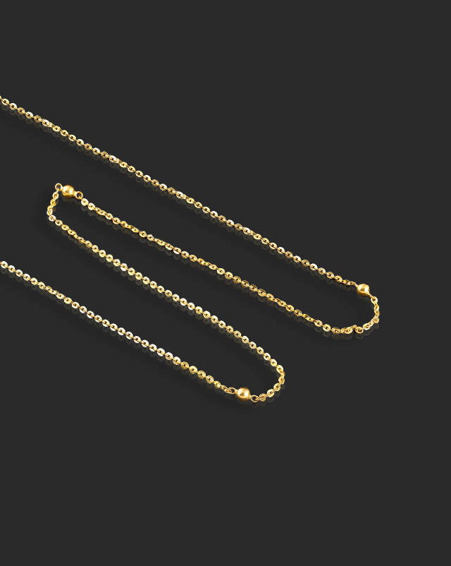 Gold Chains 22 Karat Yellow Gold Reva Cable 22Kt Gold Chain