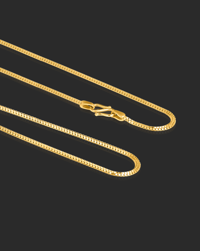 Gold Chains 22 Karat Yellow Gold Petite Box 22Kt Gold Chain