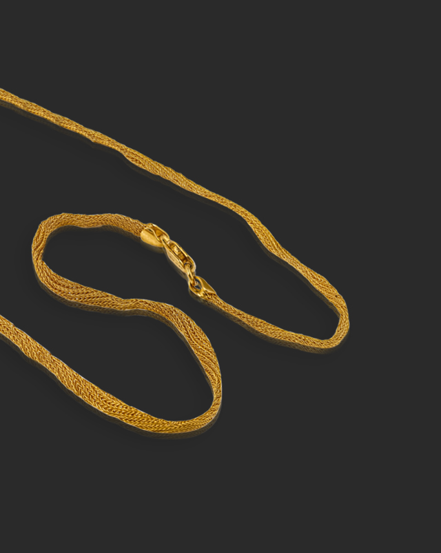 Gold Chains 22 Karat Yellow Gold Moderna Mesh 22Kt Gold Chain
