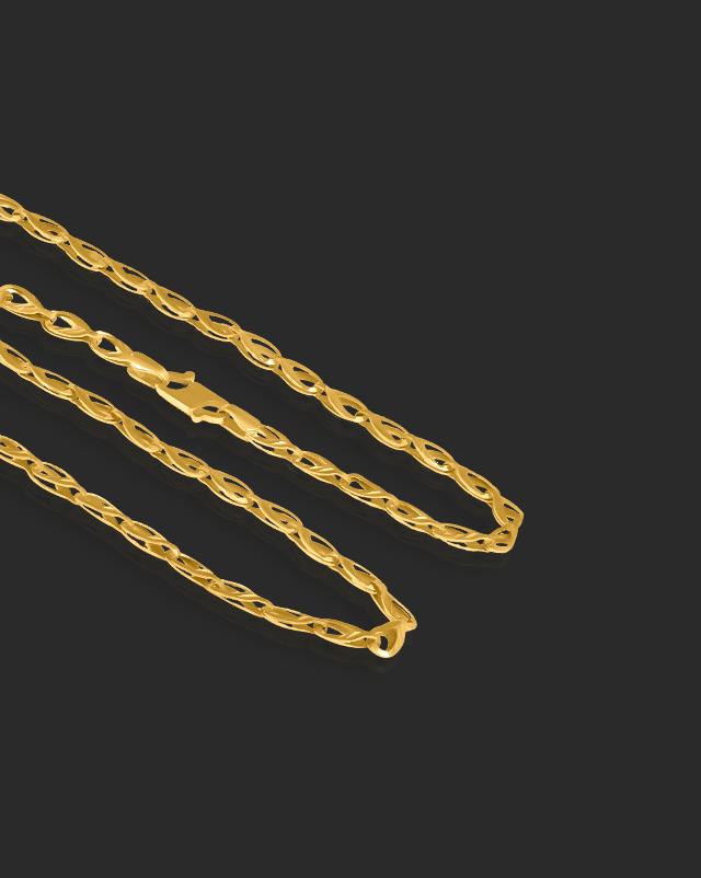 Gold Chains 22 Karat Yellow Gold Drop Fancy 22Kt Gold Chain