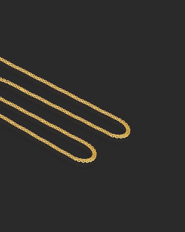 Gold Chains 22 Karat Yellow Gold Twine Foxtail 22Kt Gold Chain