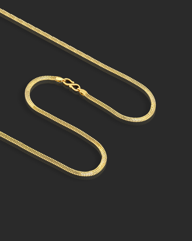 Box and Ball 22Kt Gold Chain
