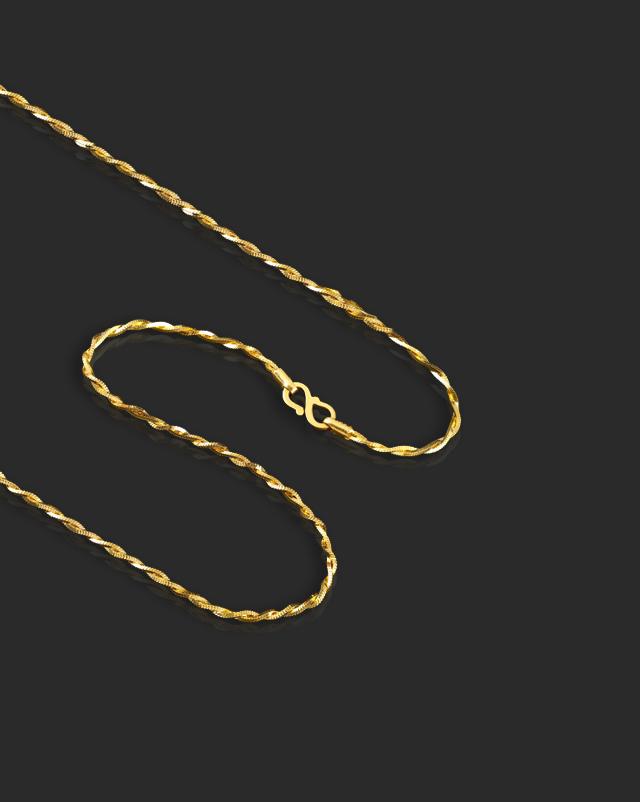 Fancy Twirl 22Kt Gold Chain