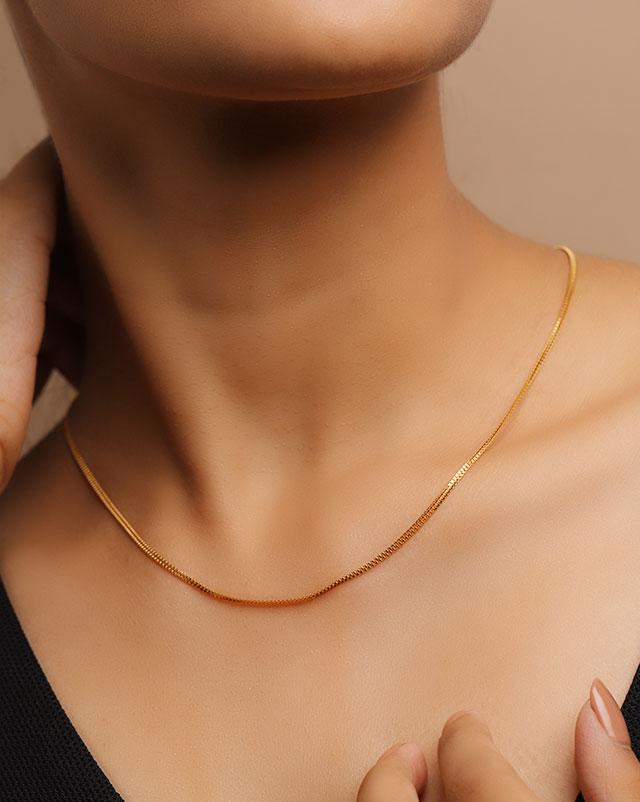 Gold Chains 22 Karat Yellow Gold Anila 22Kt Gold Chain