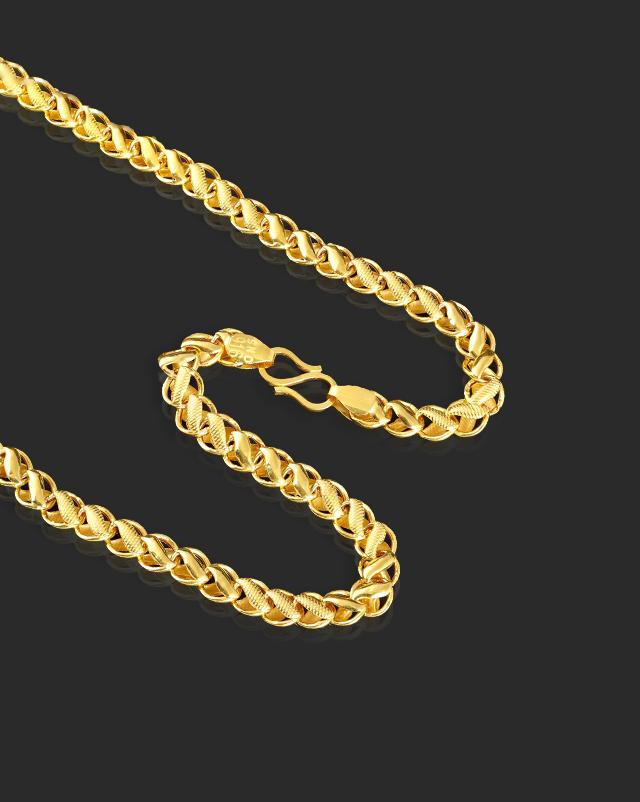Gold Chains 22 Karat Yellow Gold Akhila 22Kt Gold Chain