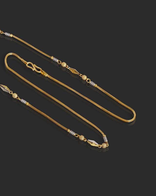 Fancy Beads 22Kt Gold Chain
