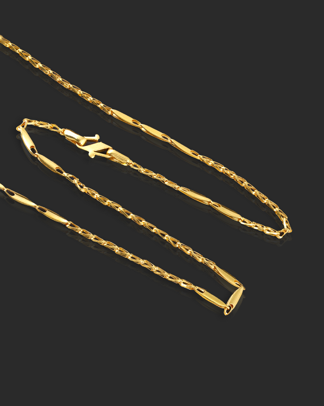 Fancy Marquise 22Kt Gold Chain