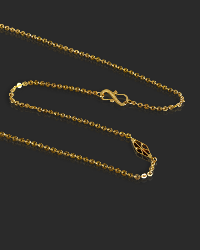 Gold Chains 22 Karat Yellow Gold Edgy Cable 22Kt Gold Chain