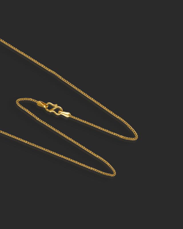 Braid Curb Gold Chain