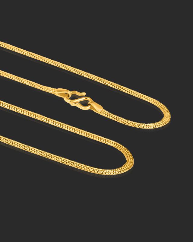 Gold Chains 22 Karat Yellow Gold Wide Box Gold Chain
