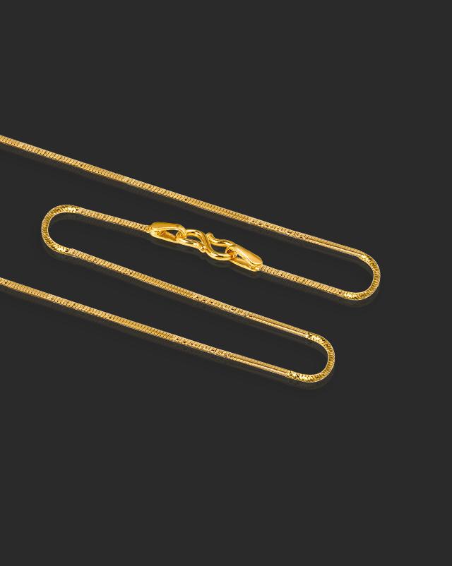 Gold Chains 22 Karat Yellow Gold Classic Box Gold Chain
