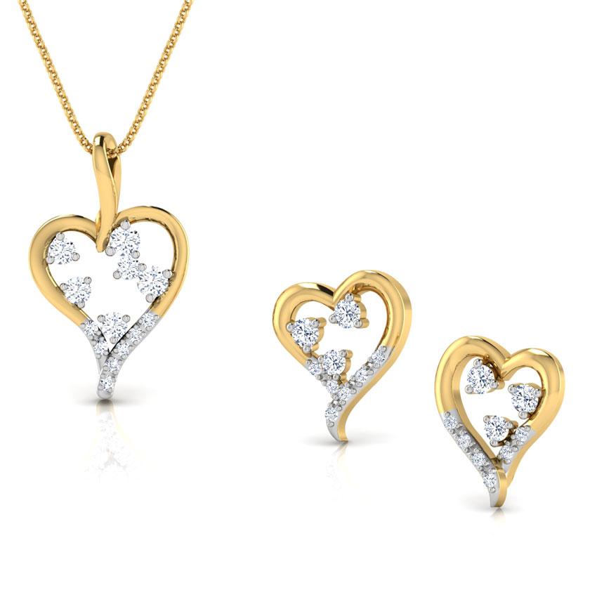 Bejewelled Heart Matching Set