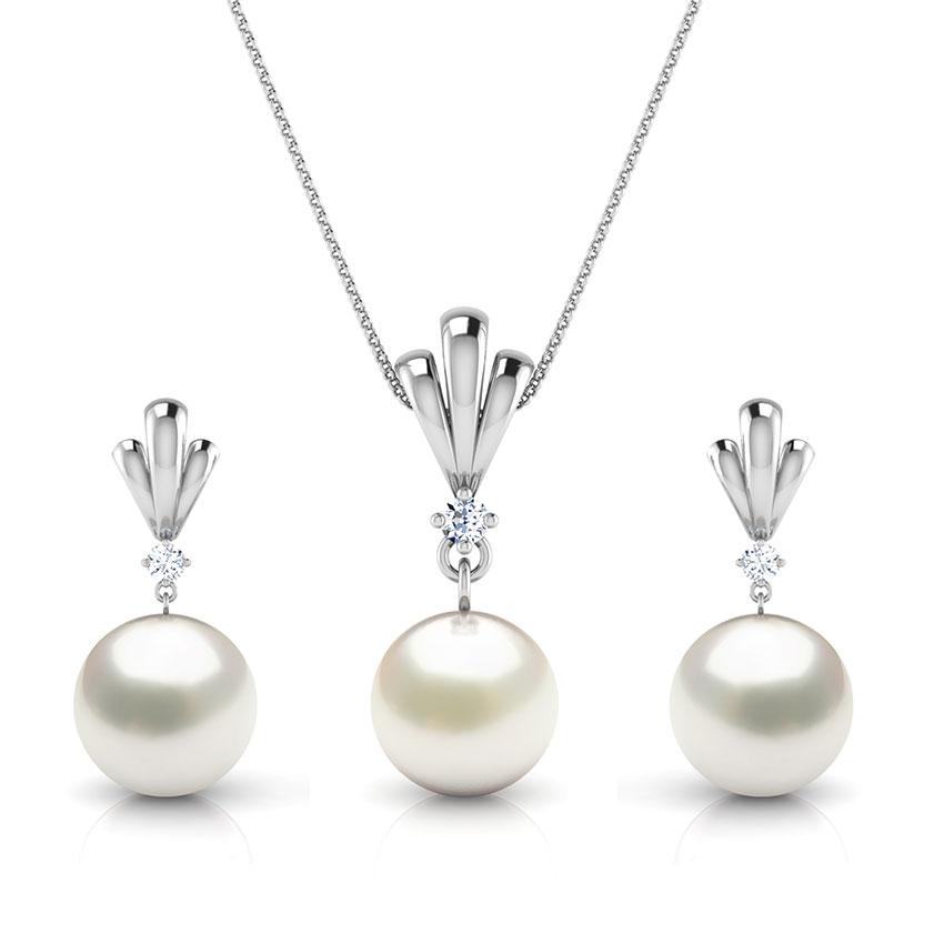 Simple Drop Pearl Matching Set