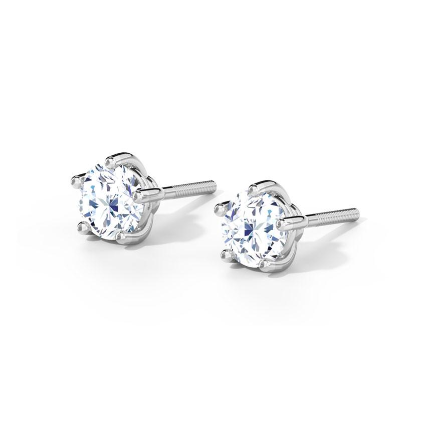 5 Prong Stud Earrings