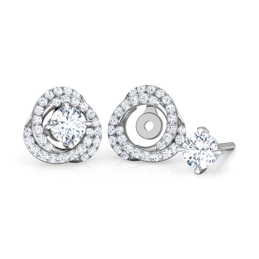 Twinkle Swerve Solitaire Stud Earrings