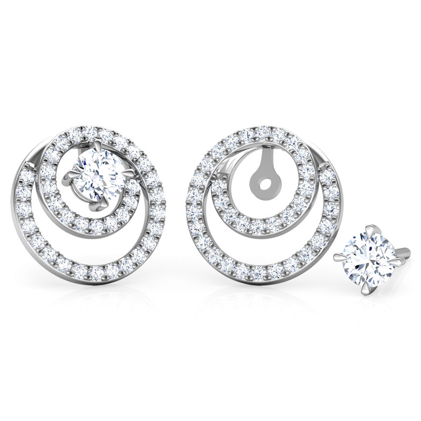 Shimmer Encircle Solitaire Stud Earrings